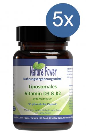 Liposomales Vitamin D3 & K2 plus Magnesium: Vorteilspaket